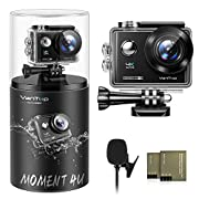 VanTop Moment 4U 4K Action Camera 20MP Underwater Waterproof Camera with EIS, External Microphone, Touch Screen, Slow…