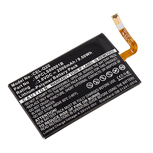 Cell Phone Replacement Battery for Blackberry CEL-Q20 3.8 Volt 2500mAh Lithium Polymer (Li-Po) Battery -  Dantona