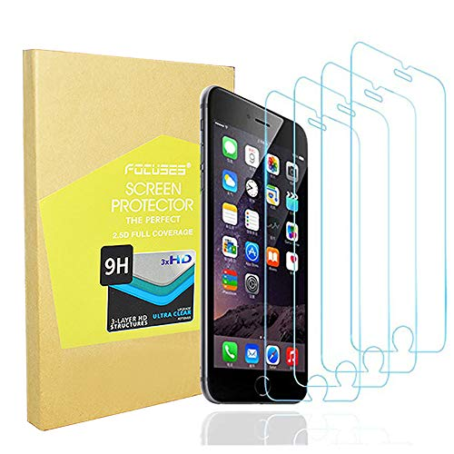 (Screen Protector Japan Tempered Glass iPhone 8plus 7plus 6s Plus 6plus[Anti Blue Light] Anti-Glare Film Shield Cover iPhone 8+/7+/6s+/6+[3D Touch][4pack] 2.5d/Case Friendly/Eye Care Protector/Focuses)