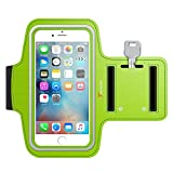 iPhone 6S Armband, Trianium ArmTrek Sports Exercise Armband for Apple iPhone 6 | iPhone 6S Case Running Pouch Touch Compatible Key Holder [Green] Good for Hiking,Biking,Walking