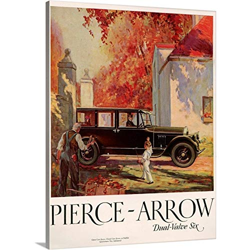 Great Big Canvas Gallery-Wrapped Canvas Entitled 1920's USA Pierce-Arrow Magazine Advert -