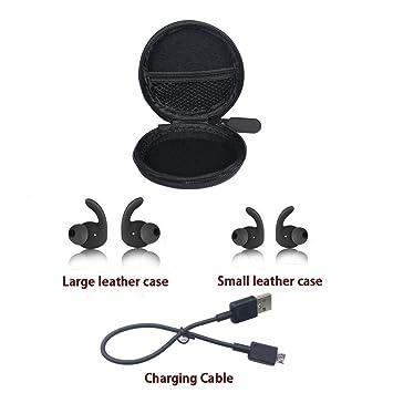 QIUHAO Caja de Auriculares Bluetooth a Prueba de Golpes con ...