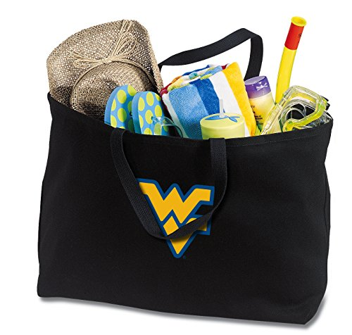 JUMBO WVU Tote Bag or Large Canvas West Virginia University Shopping Bag West Virginia Tote