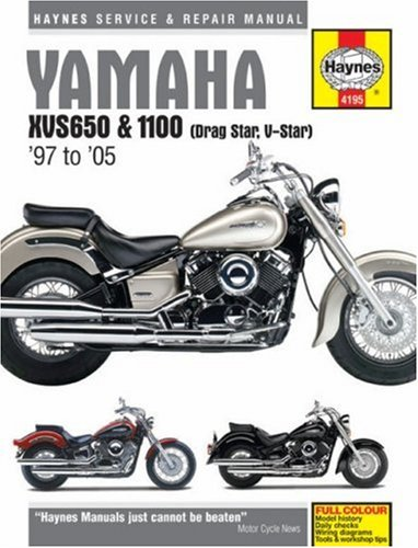 Yamaha XVS650 & 1100 (Drag Star, V-Star) '97 to '05 (Haynes Service & Repair Manual)