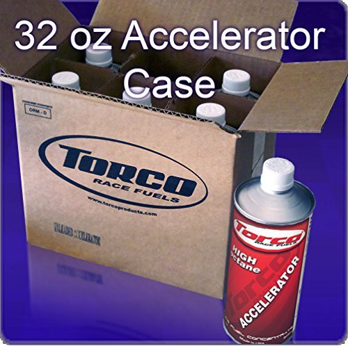 Torco Octane Booster Case of 6 Quarts UL Accelerator