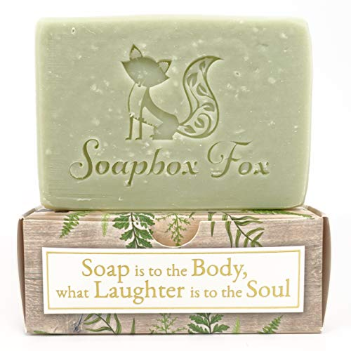 Antibacterial Scented - Organic Pine Scented Moisturizing Bar Soap For Men and Women - Natural & Organic Handmade Soap - For Sensitive Skin, Dry, Combination - Pine Scented With PURE Organic Essential Oils - Antibacterial