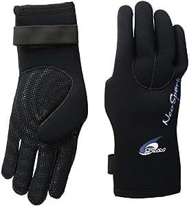 NeoSport Wetsuits Premium Neoprene 5mm Five Finger Glove, Black, X-Small - Diving, Snorkeling & Waterskiing