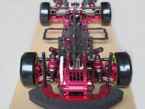 Hobbypower 1/10 Alloy & Carbon D3 CS 4WD Drift Racing Model Car Frame Kit with Front One (Front One Way Differential)