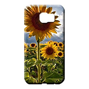 samsung galaxy s6 phone carrying cover skin PC Appearance Hot Style sunflowers