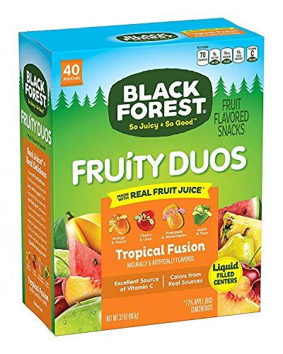 Black Forest Fruity Duos Liquid Burst Center Fruit Snacks, Mixed Fruit Flavor, 0.8 Ounce Bag