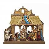 Kurt Adler 10.625-Inch Wooden Nativity Tablepiece Set