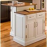 Home Styles 5010-94 Woodbridge 2-Tier Kitchen Island, White Finish