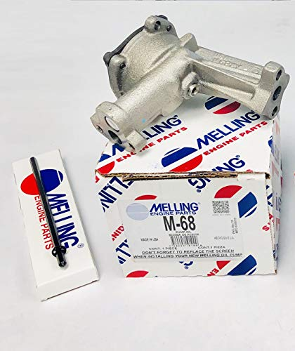 Melling Oil Pump & Shaft compatible with Ford sb 5.0L 302 289 260 255 221 (Stock Replacement) 729295101000