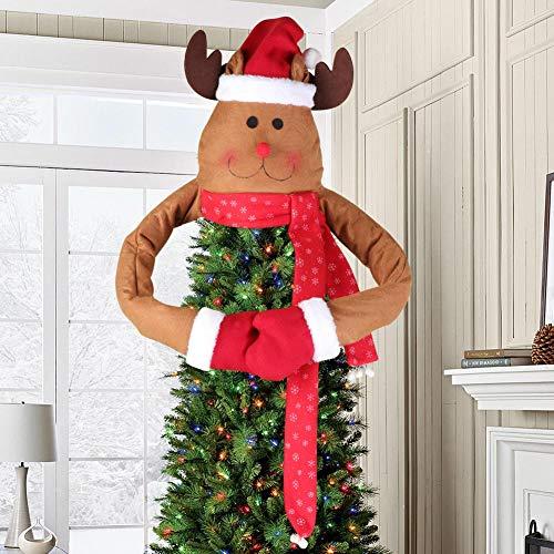 Aytai Deer Christmas Tree Topper Large Christmas Tree Topper for Christmas Tree Decoration (Tree Deer Topper Christmas)
