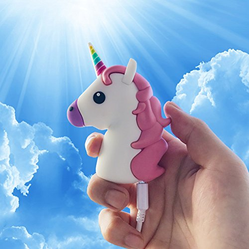 (Unicorn Emoji Stuff Portable Charger by JACK CHLOE, 2600mAh 5V/1.5A Adorable Unicorn Emoji Power Bank for Phone X / 8/7 / 7 Plus / 6s / 6s Plus/Android Phone and More)