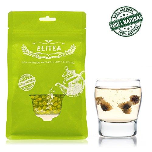 ELITEA 4.2oz Top Grade Dried Chrysanthemum Flower Buds Tea Loose Leaf Herbal Tea 100% Fragrant Natural - 100% Natural Tea