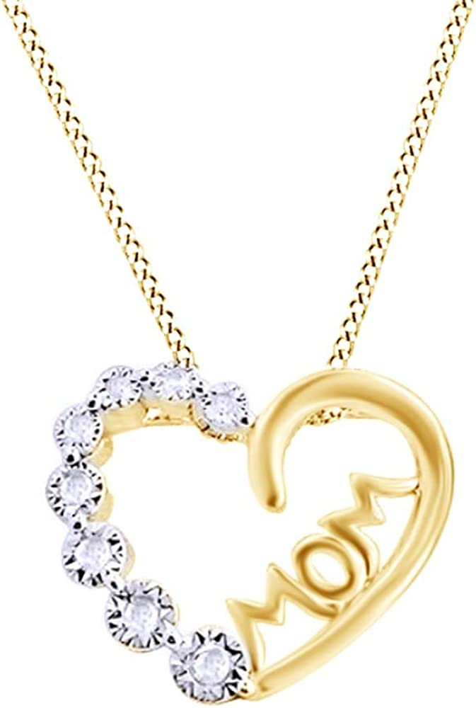 Mothers Day Special-14K Gold Plated Simulated Diamond Studded Love Heart Pendant