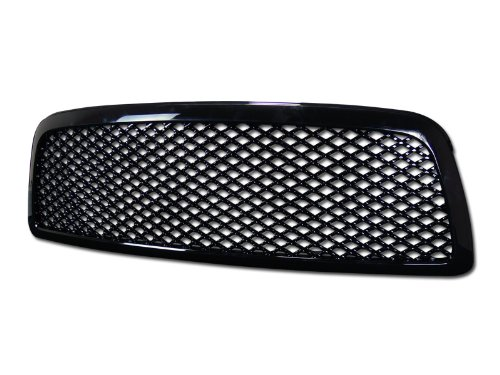 R&L Racing Black Finished Sport Mesh Front Hood Bumper Grill Grille Cover 2009-2012 For Dodge Ram 1500