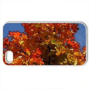 Autumn 2012 - Case Cover for iPhone 4 and 4s (Watercolor style, White)