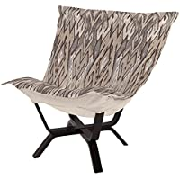 Heavenly Milan Puff Chair Ikat Stone