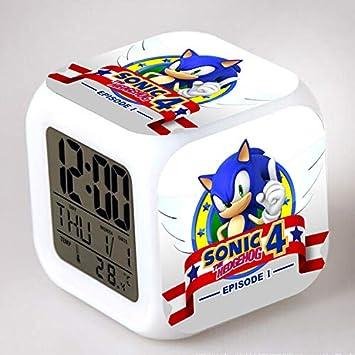 7 Couleur Couleur R/éveil DHumeur Cadeau Cr/éatif LED Horloge Quadruple 8Cm 1 HHIAK666 R/éveil Sonic