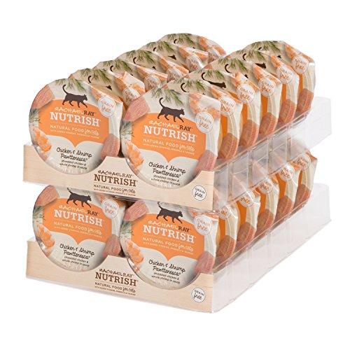 Rachael Ray Nutrish Natural Wet Cat Food, Chicken & Shrimp, Grain Free, 2.8 oz tub, Pack of 24