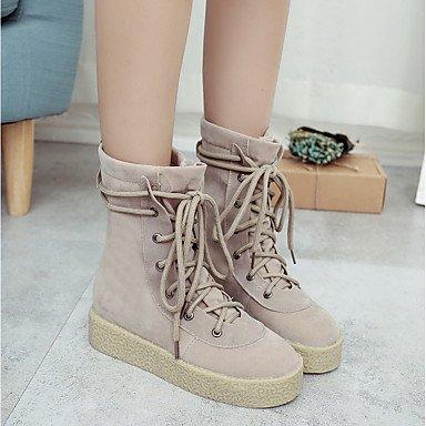 Casual formelle 2 femme de kaki pour DESY 5 chaussures bottes automne de lacets polyuréthane hiver nbsp; sport boots PU noir q8wwfaTzP