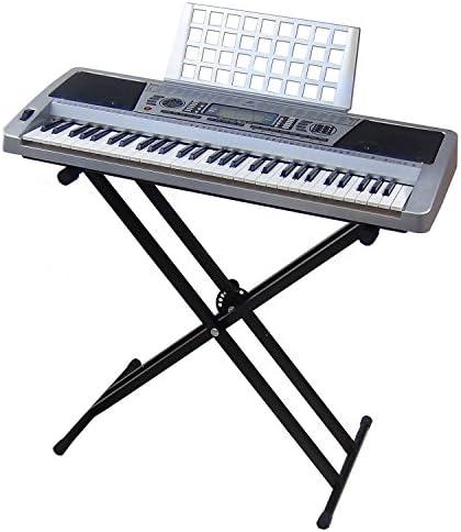 Teclado 61 teclas DynaSun MK939 LCD MIDI Respuesta Táctil Pitch Bend Keyboard E-Piano Electronico Digital Función Enseñanza con Stand Soporte