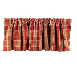 Glenna Jean Carson Window Valance, Red Plaid
