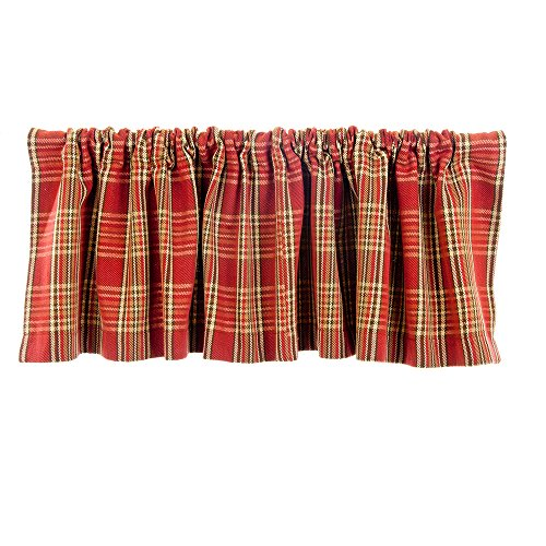 Glenna Jean Carson Window Valance, Red Plaid, used for sale  Delivered anywhere in USA
