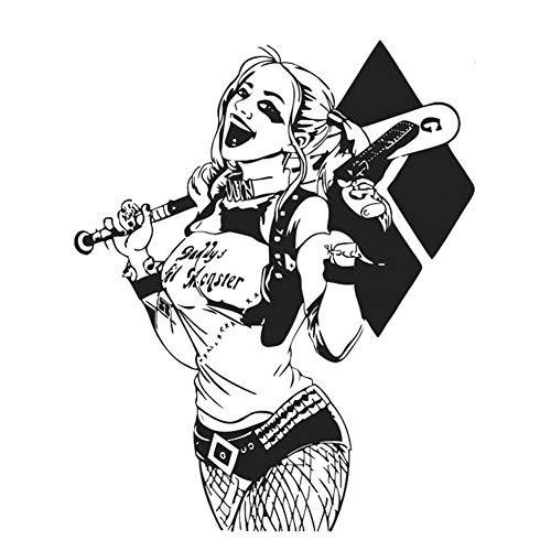 "Fangeplus R DIY Removable DC Harley Quinn Suicide Squad Joker Art Mural Vinyl Waterproof Wall Stickers Kids Room Decor Nursery Decal Sticker Wallpaper 22.4"" X -"
