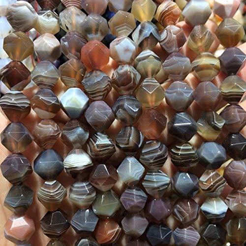 (Calvas Faceted Natural Botswana agates/Sardonyx Beads natual Stone Beads DIY Loose Beads for Jewelry Making Strand 15