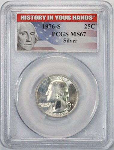 1976 S Silver Washington Quarter 25¢ MS67 PCGS History in your Hands