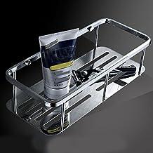 Bathroom Square Towel Shelf Single Layer Baskets 304 Stainless Steel Towel Rack Wall Mount Hardware Towel Rail