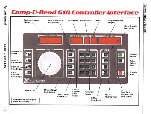 Hurco 5SM or Compubend 610 CNC Control Programming Manual
