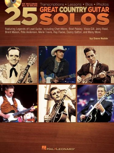 25 Great Country Guitar Solos: Transcriptions * Lessons * Bios * Photos