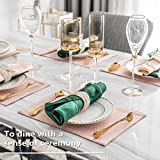 Home Brilliant Pink Table Mats Set of 6 Placemats