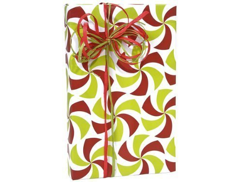 Holiday PEPPERMINT TWIST Christmas Gift Wrap Wrapping Paper