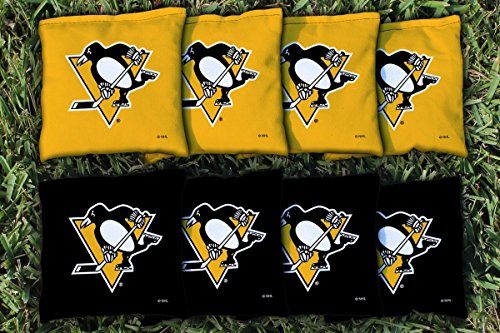Victory Tailgate 8 Pittsburgh Penguins NHL Regulation All Weather Cornhole Bags