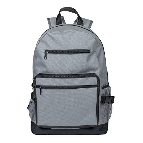 Reinforced and Water Resistant Padded Laptop School Backpack Stone Grey