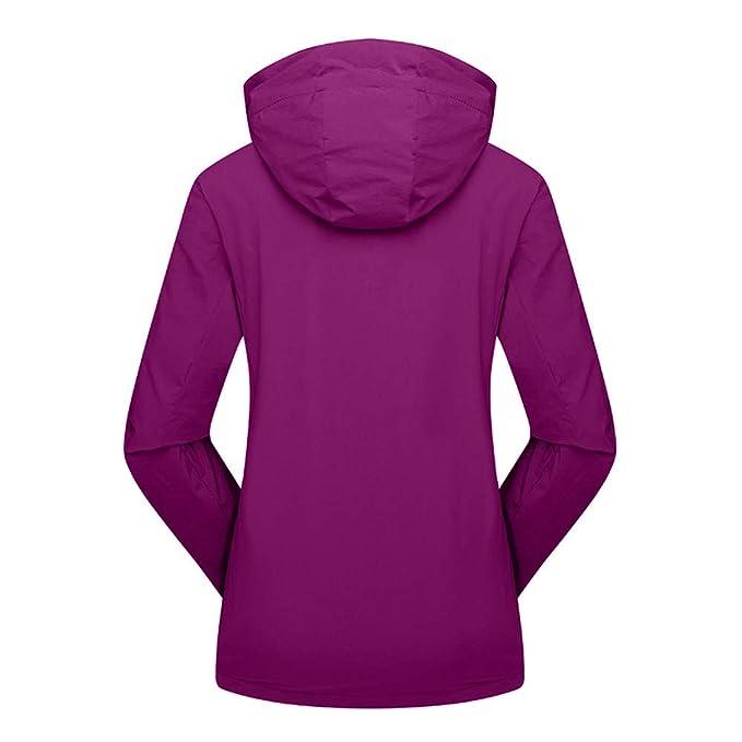 Linlink Ropa de Mujer de Invierno otoño Cuatro Lado elástico Impermeable Deporte Exterior Asalto Abrigo: Amazon.es: Ropa y accesorios