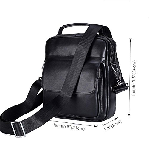 Crossbody Black Men Leather Bags handle Genuine Shoulder Bag Male Top Gtuko zPvfxp