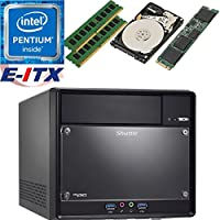 Shuttle SH110R4 Intel Pentium G4600 (Kaby Lake) XPC Cube System , 32GB Dual Channel DDR4, 120GB M.2 SSD, 1TB HDD, DVD RW, WiFi, Bluetooth, Pre-Assembled and Tested by E-ITX
