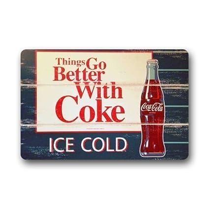 Coca Cola Bathroom Decor.Amazon Com Doormats Bath Rugs Outdoor Mat Eveler Custom Ice Coca