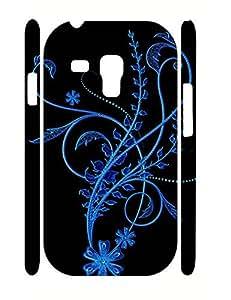 Pretty Butterfly Pattern Design Durable Plastic Phone Skin Case for Samsung Galaxy S3 Mini I8200