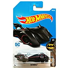 Hot Wheels 2017 Batmobile Batman Black 190/365, Long Card by Mattel