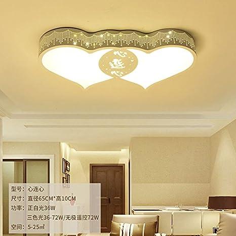 Lámpara de techo LED lámpara dormitorio cálido y romántico ...