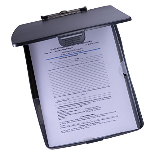 Officemate Super Storage Supply Clipboard Case, Black Clipboard (83393) ()