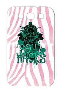 SOUL HACKS Green For Sumsang Galaxy S3 Symbol Illustration Art Design Image Logo Mark Illustration Skeleton Hacker Case Cover