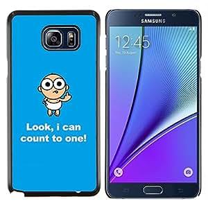 Jordan Colourful Shop - Numbers Baby Funny Child Quote Joke For Samsung Note 5 N9200 N920 Personalizado negro cubierta de la caja de pl????stico